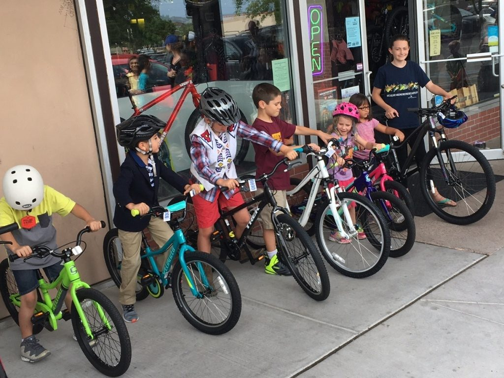 Bike winners from the Santa Fe Public Library Reading Program